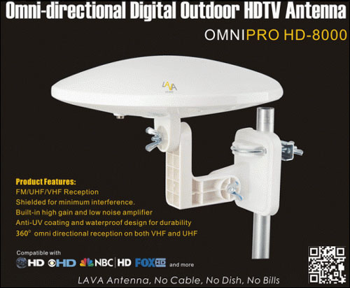 Lava Hd8000 Omnipro Omni Directional Outdoor Hdtv